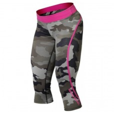 Better Bodies Camo Capri Tights, Green Camo