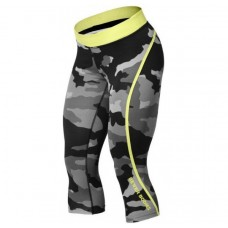 Better Bodies Camo Capri Tights, Grey Camo