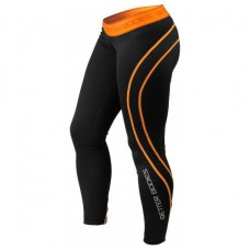 Better Bodies Athlete Tights, Black/Orange