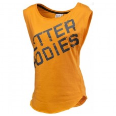 Better Bodies Casual Printed Tee, Bright Orange