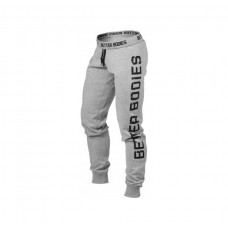 Better Bodies Slim Sweatpant, Grey Melange
