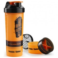 Better Bodies Gym Shaker, Black/Orange