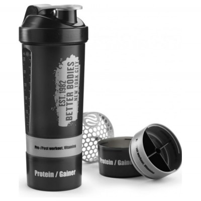 Better Bodies Gym Shaker, Black/Metal