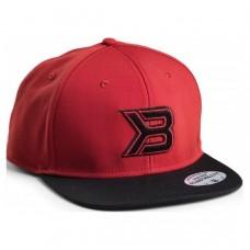 Better Bodies Flat Bill Cap, Red/Black