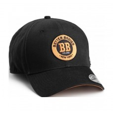Better Bodies Mens Bbaseball Cap, Black/Orange