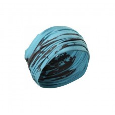 Better Bodies Head Wrap, Aqua/Dark Grey