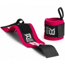 Better Bodies Womens Wrist Wraps, Hot Pink/White