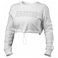 Better Bodies Madison Cropped LS, White