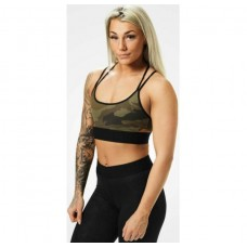 Better Bodies Astoria sports bra, Dark green camo