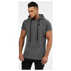 Better Bodies Bronx T-shirt hoodie, Dark greymelange