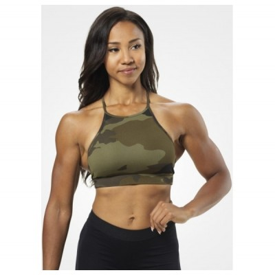 Better Bodies Astoria Short Top, Dark Green Camo