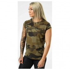 Better Bodies Astoria tee, Dark green camo