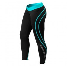 Better Bodies Athlete Tights, Black/Aqua