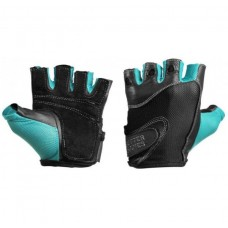 Better Bodies Womens Fitness Gloves, Black/Aqua