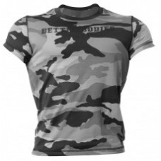 Better Bodies Colorado Camo Tee, Grey Camo Print