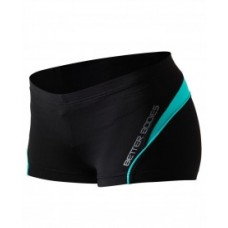 Better Bodies Cherry Hill Hotpant, Black/Aqua