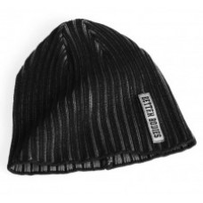Better Bodies Heavy Rib Beanie, Black/Grey