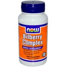 NOW Foods Bilberry complex 80 mg