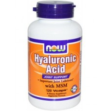 NOW Foods Hyaluronic Acid 100 mg plus MSM
